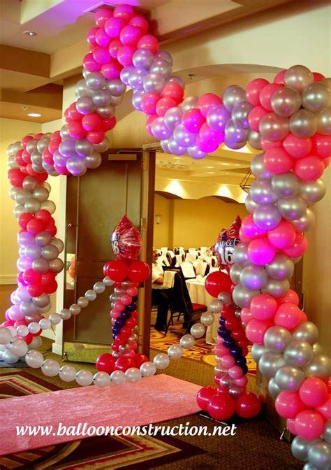 Sweet 16 entrance decor! A walk on the pink carpet