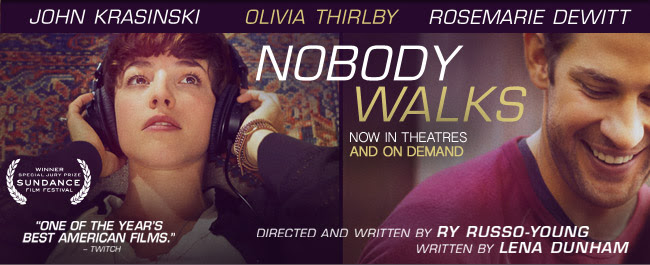 'Girls' star Lena Dunham pens 'Nobody Walks' opening Oct. 19