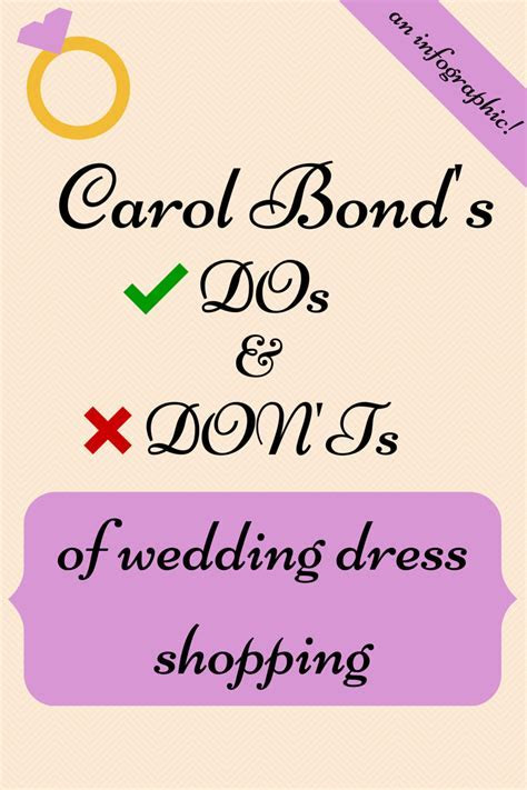 The DOs and DON?Ts of Wedding Dress Shopping (Infographic