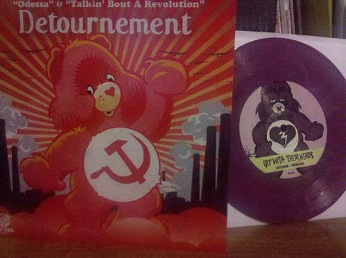 "Best 7"" artwork I've seen in a long time: Off With Their  Heads/Detournment Split 7"" by factportugal"