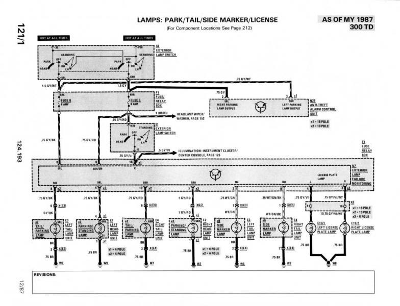 Mercede W124 Wiring Diagram