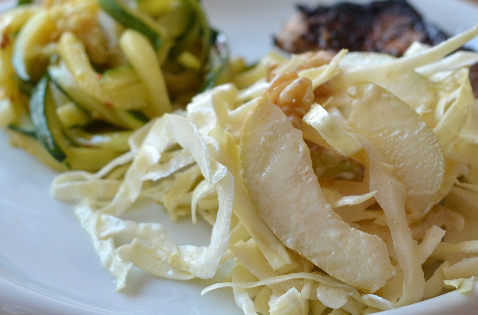 Ginger, Pear and Walnut Coleslaw