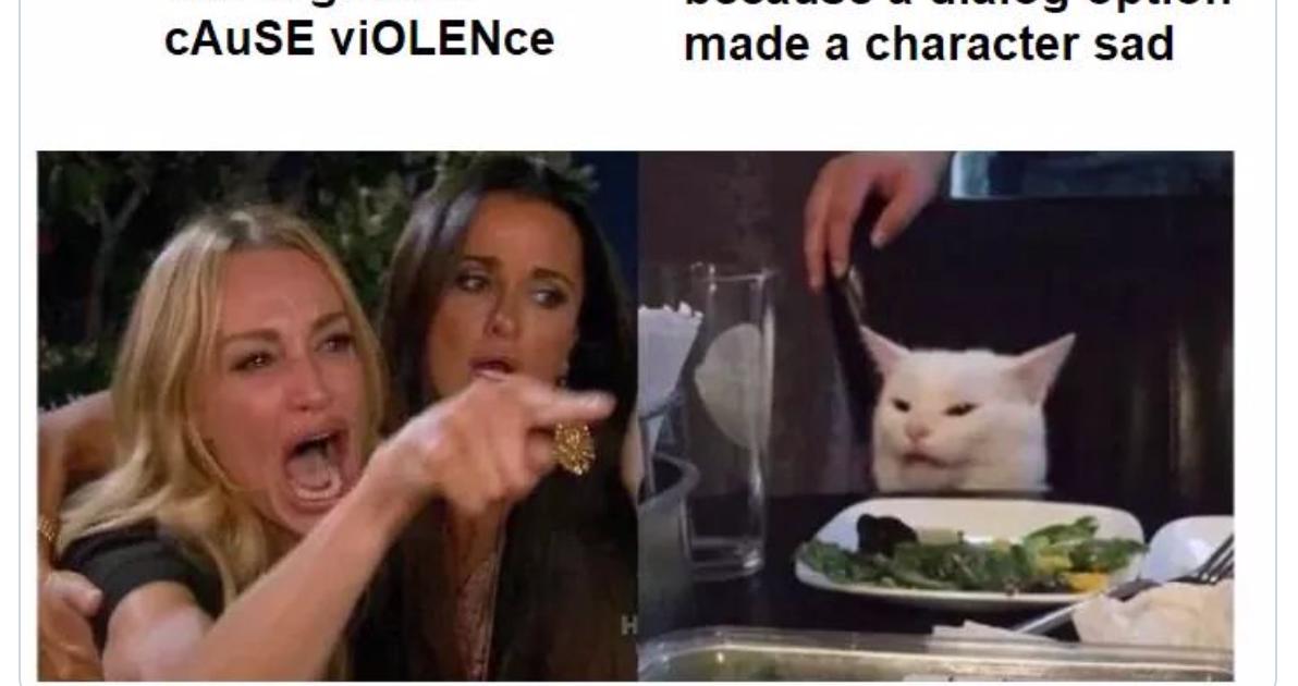 Woman yelling at cat meme generator
