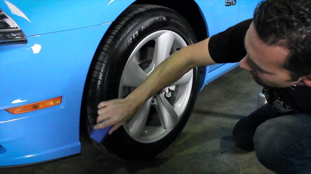 How To Apply Tire Shine Chemical Guys V R P Dressing Vinyl Rubber Plastic Epic Car Care