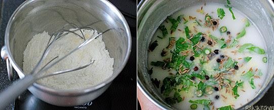 How to make onion rava dosa step 1