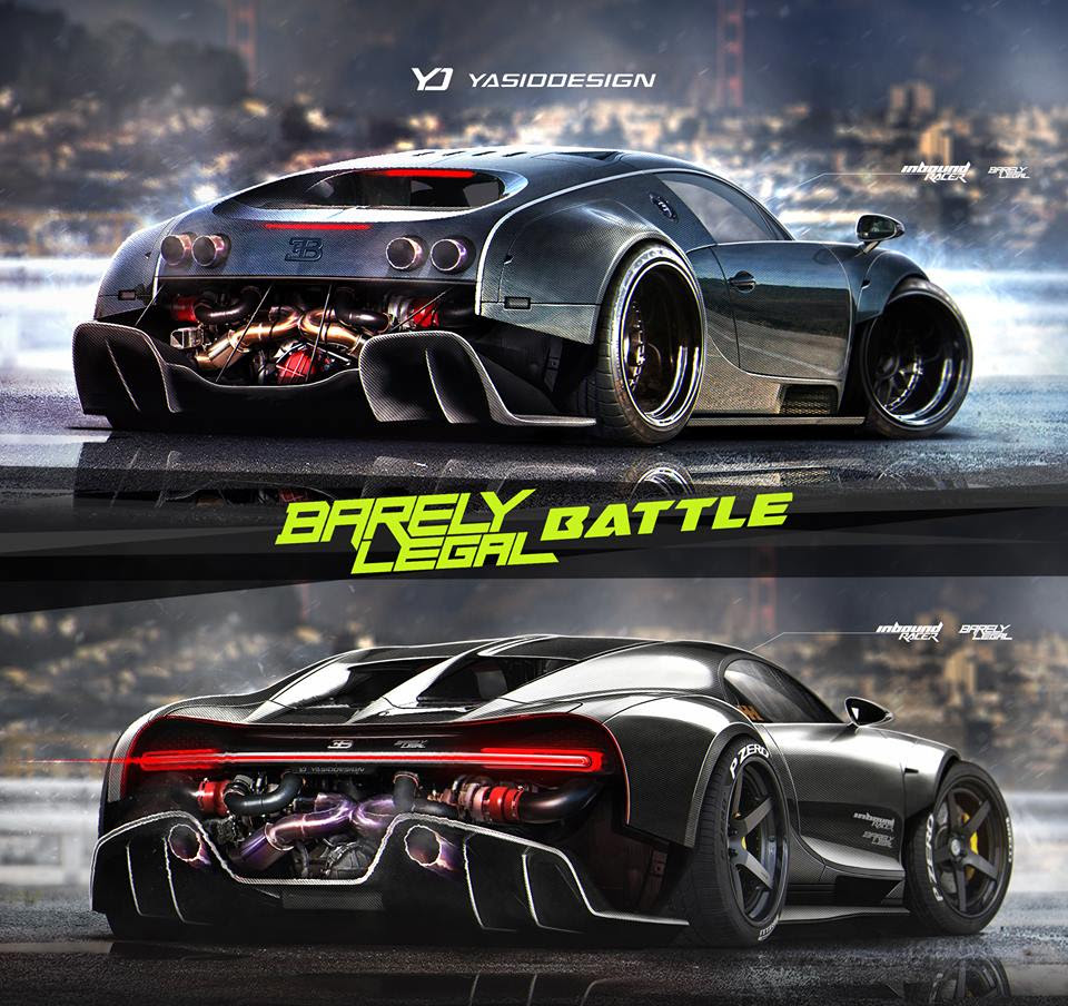 Bugatti Chiron vs. Veyron, the Rendering Battle That Almost Seems Impossible - autoevolution