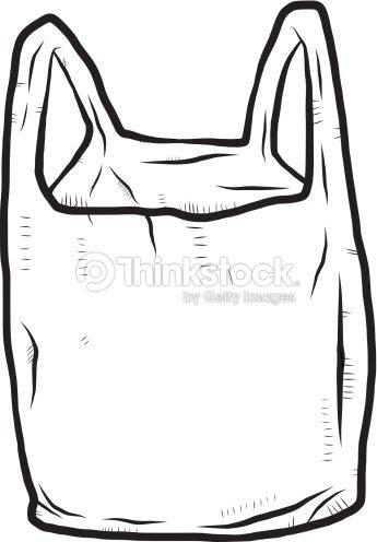 プラスチック製の袋カットイラスト手描き ベクトルアート Thinkstock