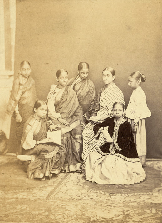 Group of pupils of the Alexandra Native Girls' Institution, Bombay 4637