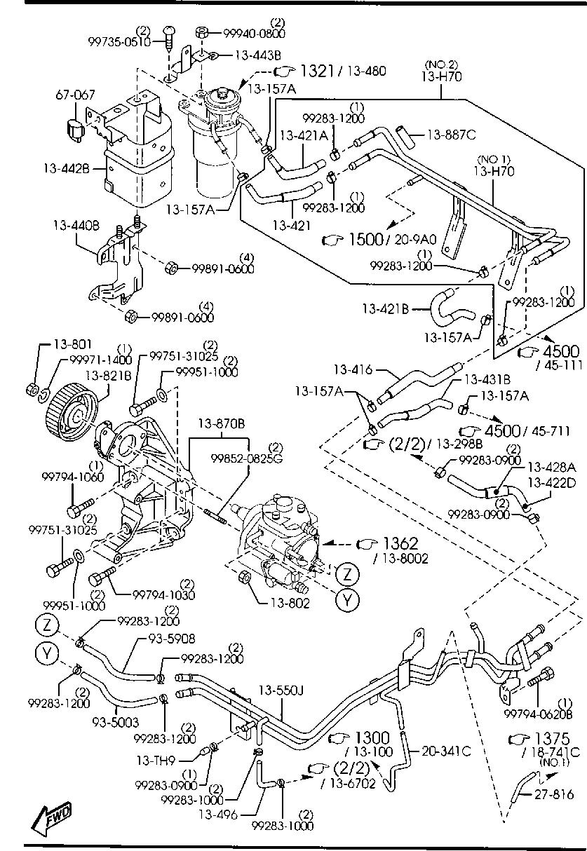 Mazda 6 Vacuum Hose