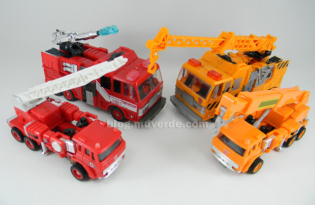 Transformers Grapple United Voyager - modo alterno vs Inferno vs G1