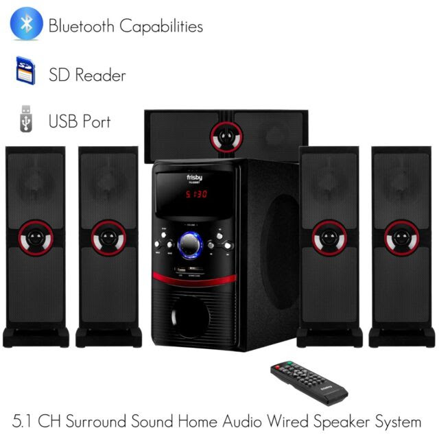 Frisby Fs 5090bt 51 Ch Home Theater System W Bluetooth Sd Usb Aux