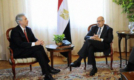 Mediation talks between United States Under Secretary for Middle East Affairs William Burns sits with military-appointed Vice-President Mohamed El-Baradei. by Pan-African News Wire File Photos