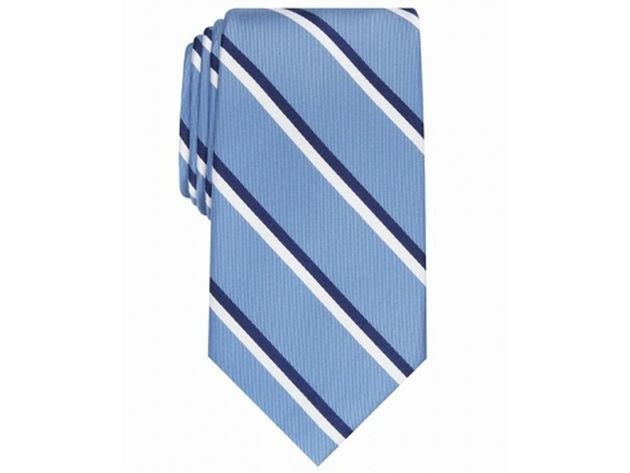 Club Room Men's Beacon Striped Tie Light Blue One Size for $94