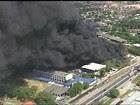 Incêndio atinge fábrica em Santa Cruz da Serra, no RJ