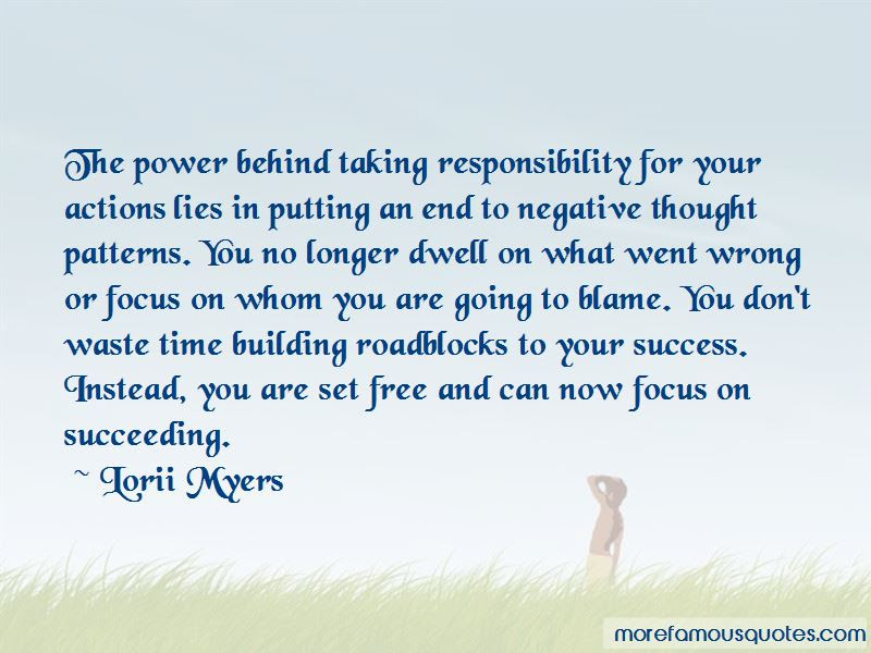 Quotes About Taking Responsibility For Actions Top 18 Taking