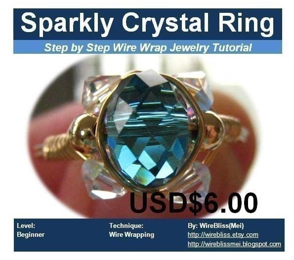 Tutorial for sparkly crystal ring