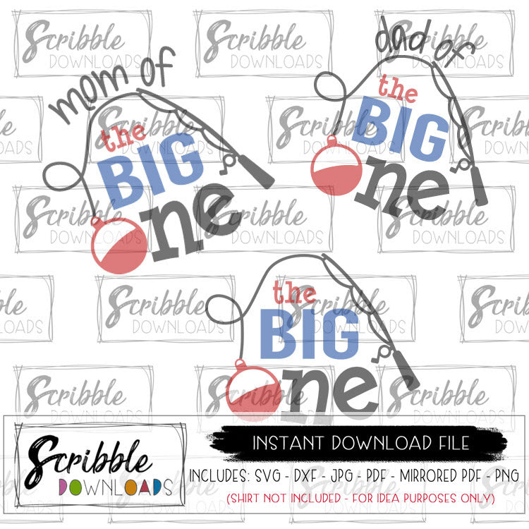 Download 1 The Big One With Mom Dad Too Svg Scribble Downloads
