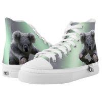 Koala Zipz High Top Sneakers, Printed Shoes
