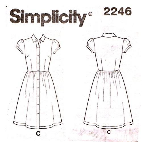 Simplicity 2246 dress C