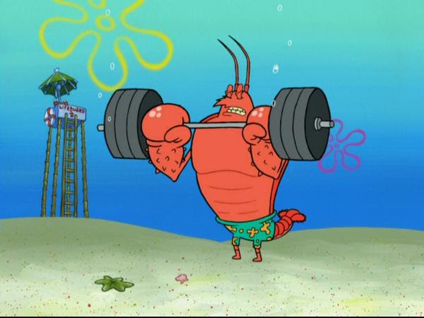 Image result for larry the lobster workout