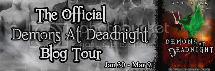 Demons at Deadnight Blog Tour Banner with Hex Boys