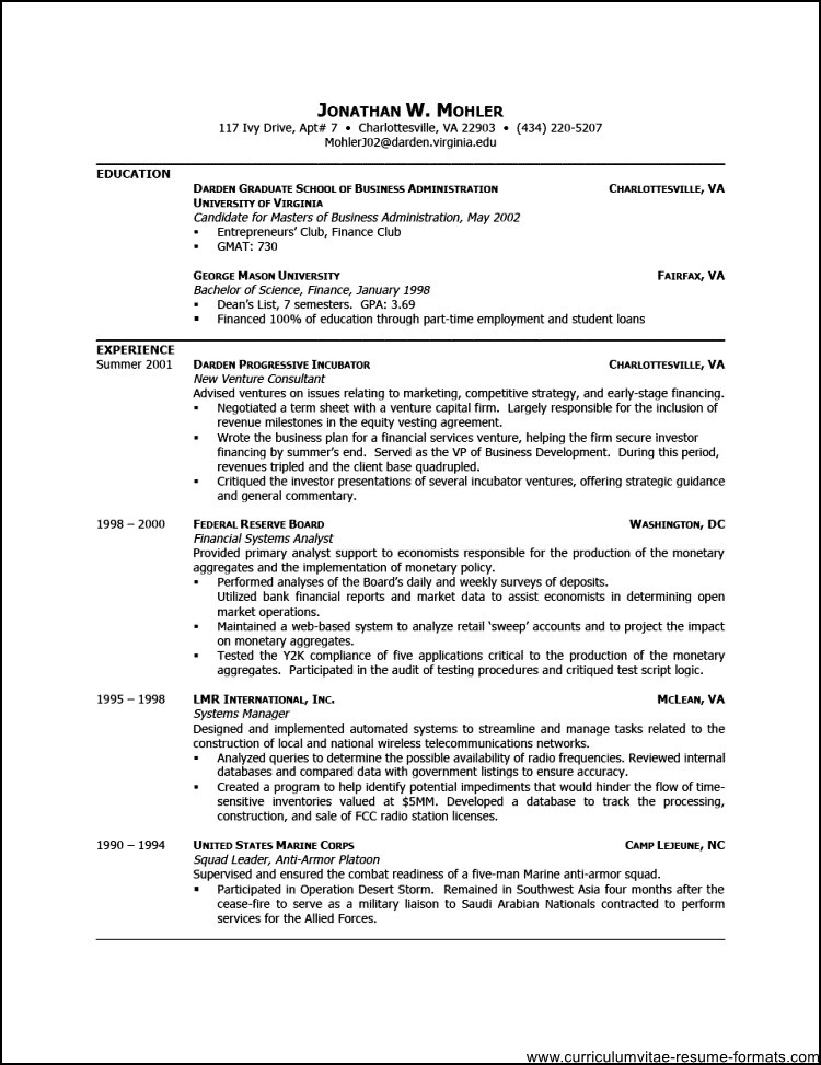 Resume Example Images Free Resume Format Download