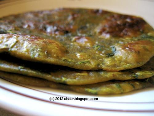Kale parathas