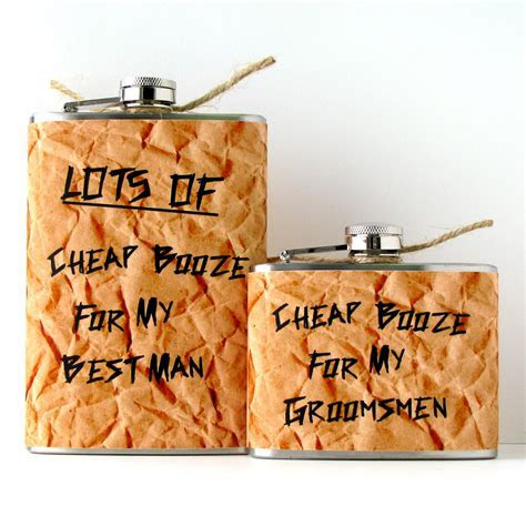 5 funny gifts for groomsmen cheap booze flasks   OneWed.com