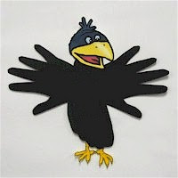 Hand and Footprint Crow Craft