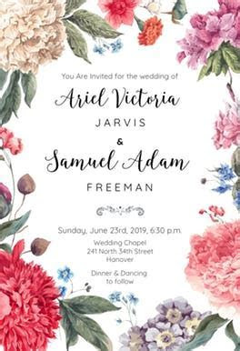 Garden Glory   Wedding Invitation Template (free
