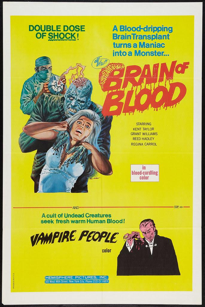 Brain of Blood / Vampire People Combo (Hemisphere Pictures, 1972)