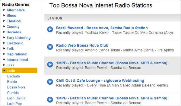 http://www.shoutcast.com/radio/Bossa%20Nova