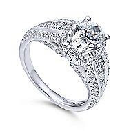 Oval Engagement Rings   Oval Cut Diamond Rings   Gabriel & Co.
