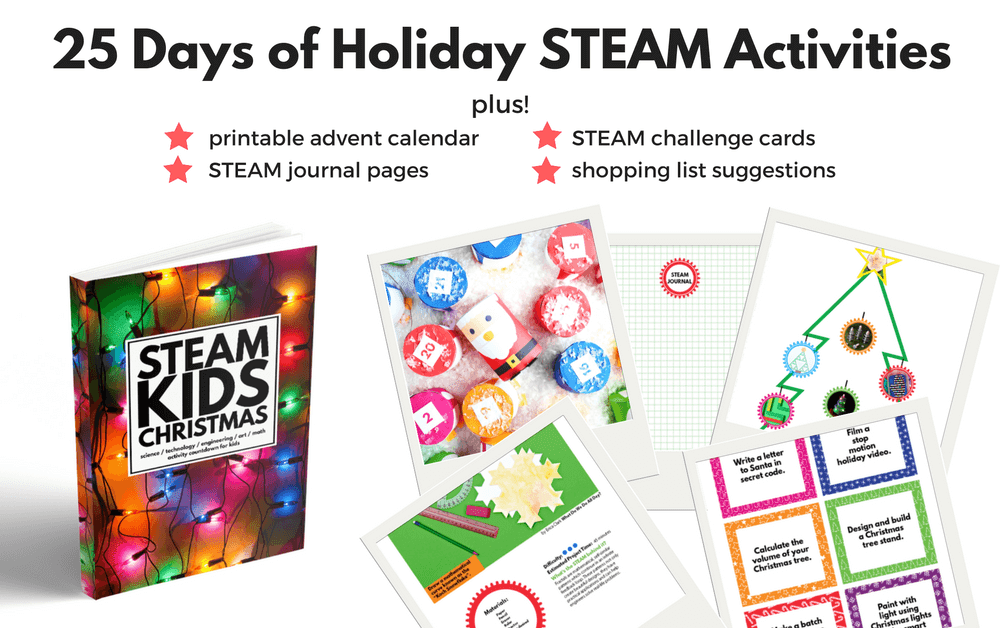 25 Days of Holiday STEAM Activities for Kids