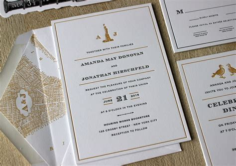 Vintage NYC Letterpress Wedding Invitations ? Sesame