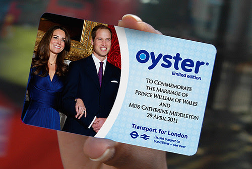 Royal Wedding Oyster Card Official Design