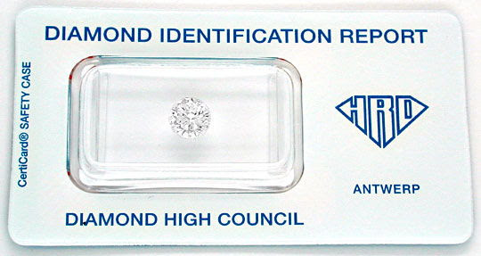 Original-Foto 1, DIAMANT, GUTACHTEN HRD!!!, 1.00ct RIVER-D, WERT DIAMOND
