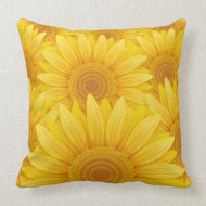 Field of Sunflowers throwpillow