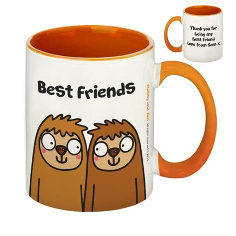 Best Friends Sloth Orange Inside Mug   Signature Gifts