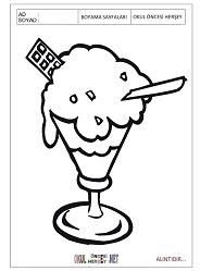 Dondurma Boyama Sayfaları