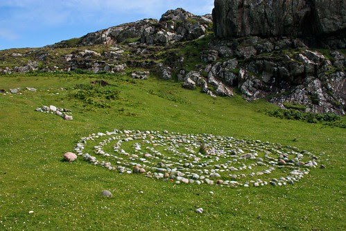 Stone circle path on Iona