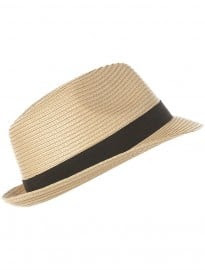 Topman Cream And Black Panama Hat