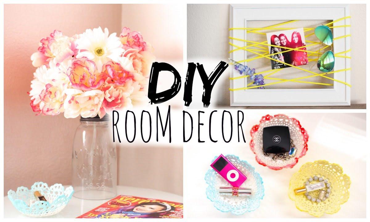 DIY Room Decor for Cheap! Simple & Cute! - YouTube
