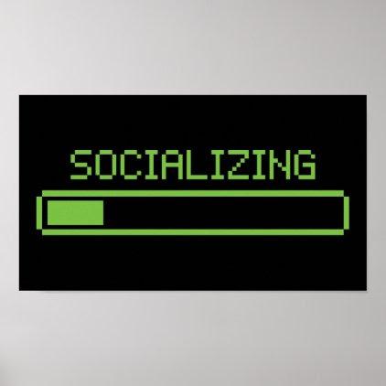 Socializing Poster