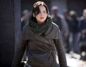 Jennifer Lawrence returns as Katniss Everdeen in Part 1 of THE HUNGER GAMES: MOCKINGJAY.