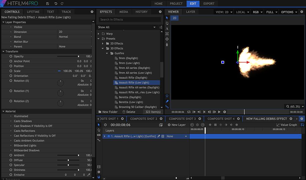 HitFilm 4 Pro: Compositing Interface