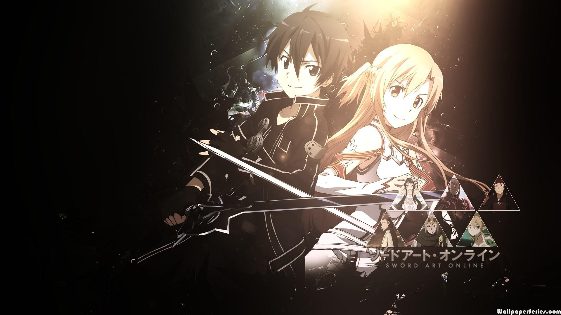 Hd Sword Art Online Anime Kirito And Asuna Wallpaper Download