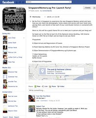 SingaporeMemory.sg Pre-Launch Party!