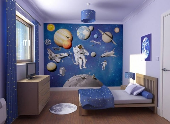 Space Wallpaper For Bedroom Walls Pinterest
