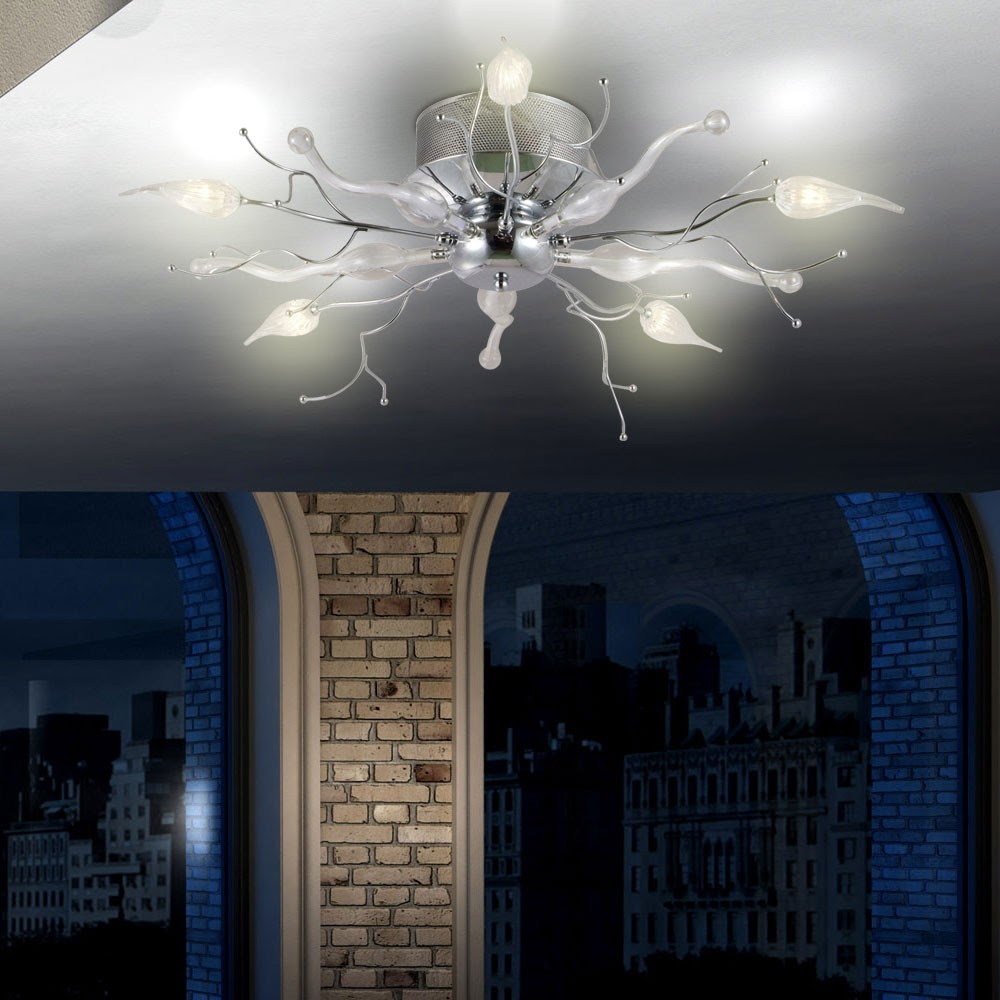 Kronleuchter 5x LED Licht Äste Wohnzimmer Leuchte ...